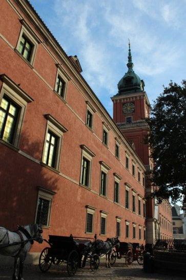 Widok na Zamek Królewski w Warszawie