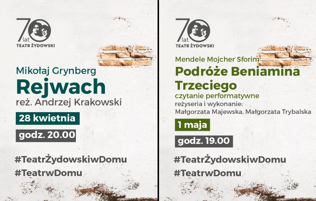 Teatr Żydowski - spektakle 28.04 - 01.05