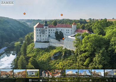Zamek Piaskowa Skała - wirtualny spacer