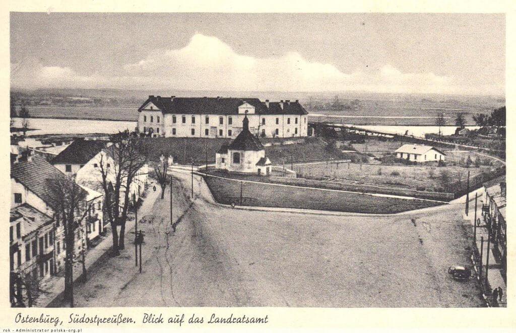 Widok na kaplicę i zamek - 1940-1944