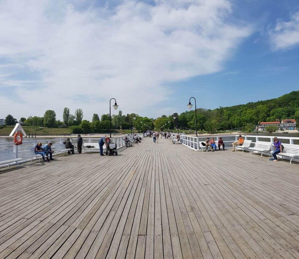 Orłowo - molo od strony Zatoki Gdańskiej