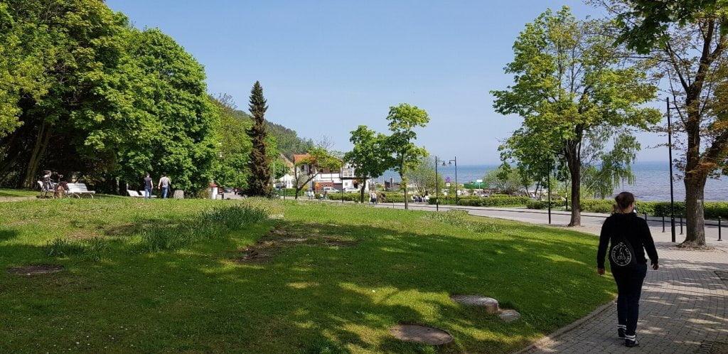 Orłowo - widok na park