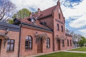 Budynek dworca w Goczałkowicach