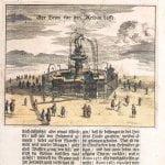 Fontanna Neptuna przedstawiona w gazecie Der Stadt Dantzigk z 1687 roku.