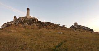 Zamek Olsztyn - zachód słońca